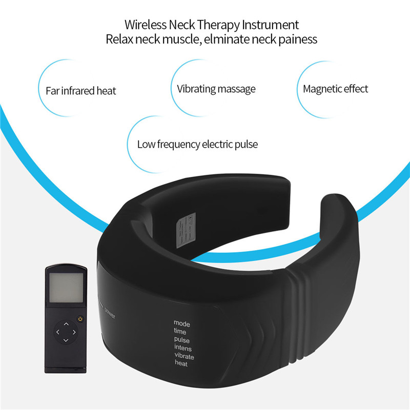 Wireless Remote Control Electric Pulse Neck Massager Health Care Product Cervical Therapy Instrument Massage Tools P49