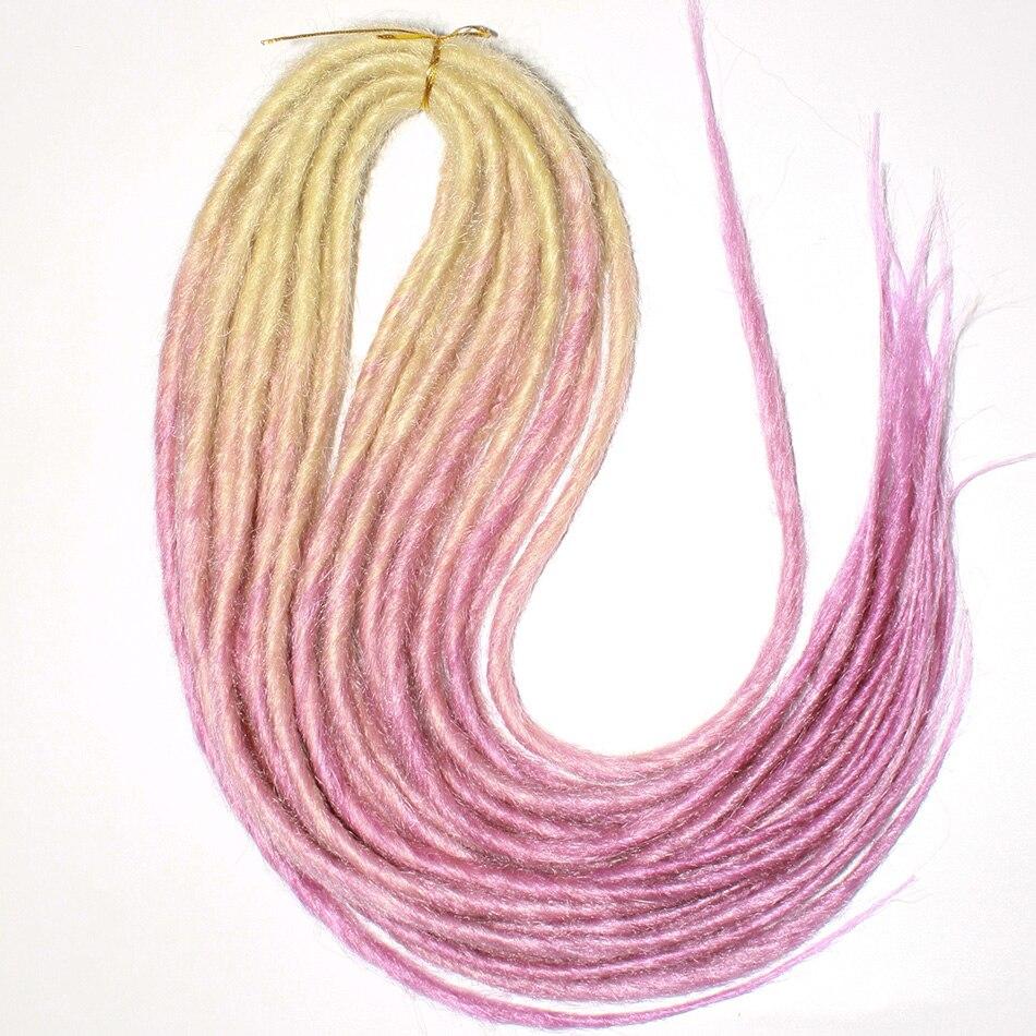 Qp hair Double Dreadlocks Braids Synthetic Hair Braiding Kanekalon Hair Extensions Twist Braids Darling Soft Dread 10 stand/pcs