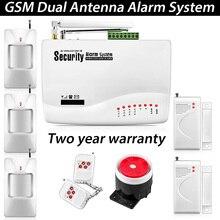 Casa de Seguridad de Voz de Triple banda Antena Inalámbrica GSM Sistema de Alarma de Doble Sensor de Movimiento PIR inalámbrico Antena con Manual en Ruso alarma