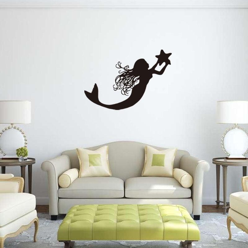 Fantasy Home Decor: Cartoon Vinyl Wall Stickers Fantasy Girl Ocean Home Decor