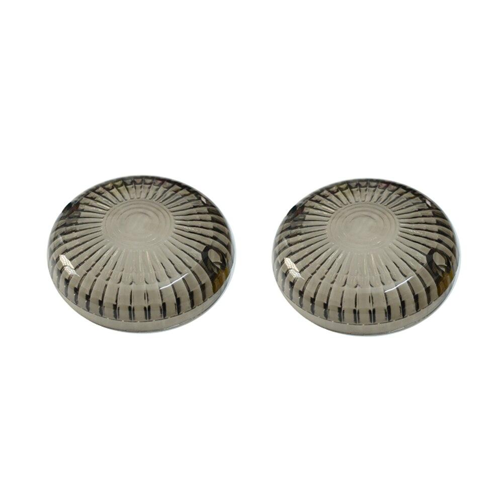 4pcs Motorcycle Smoke Flat Style Turn Signal Lenses Bulb For Harley Electra Glide Road King Blinker Running Light Lens