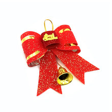 New Year Decorations Bowknot Christmas Tree Ornament Home Bowknots Baubles Christmas Big Bow Tie Type Decoration Xmas(China)