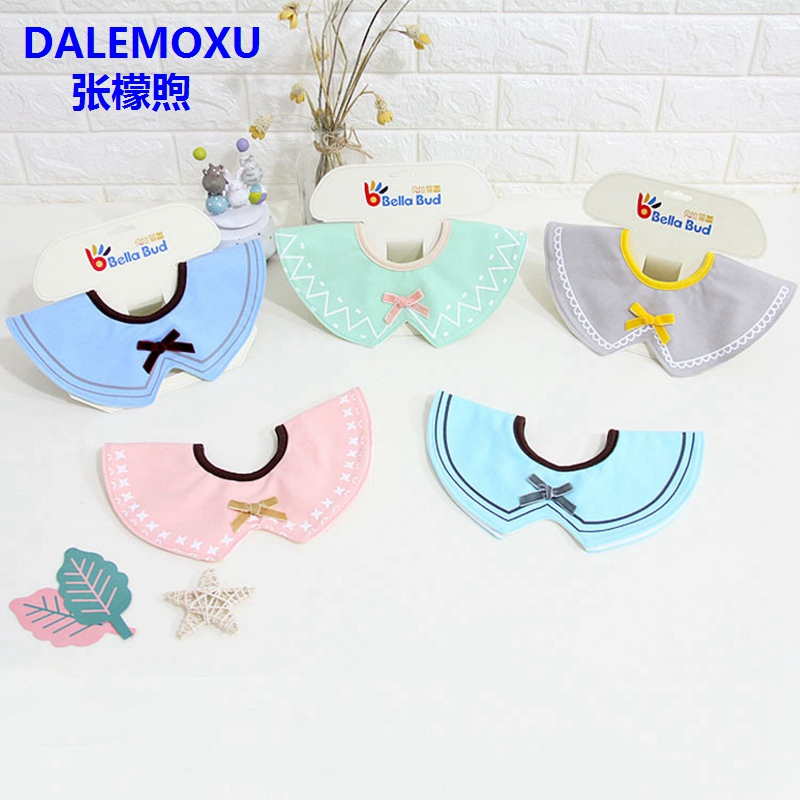 Baby Waterproof Bibs Round Neck Baby Girls Bibs 360 Degree Bow Bandana Bib Baby Burp Cloths Acessorios For Girls Baby Clothing