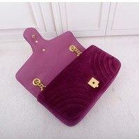 Women new winter velvet shoulder bags high quality luxury handbags designer handbags famous brand bags