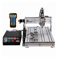 3d milling router 6040 2200W water cooled spindle metal engraving machine USB port DiY wood