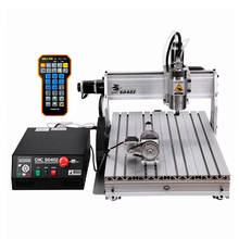 цены 3d milling router 6040 2200W water cooled spindle metal engraving machine USB port DiY wood  with free cutter vise collet