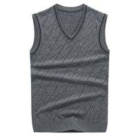 2016 Latest Style Autumn Spring Plain V Neck Men S Pullover Cashmere Sleeveless Vest