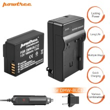 купить 1X 7.2V 1800mAh DMW-BLC12 Li-ion Camera Battery+Battery Charger+Car charger For Panasonic FZ1000, FZ200, FZ300, G5, G6, G7 L10 в интернет-магазине