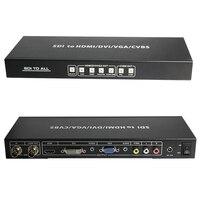 SDI to ALL Splitter Extender Scaler Converter SD HD and 3G SDI With LOOP OUT To HDMI DVI VGA CVBS Analog Digital SDI Converter