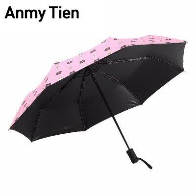 Parapluie mignon femme pluie femmes automatique pliant Guarda Chuva Uv parasol hommes mâle coupe-vent parapluie vêtements de pluie et ombre de soleil
