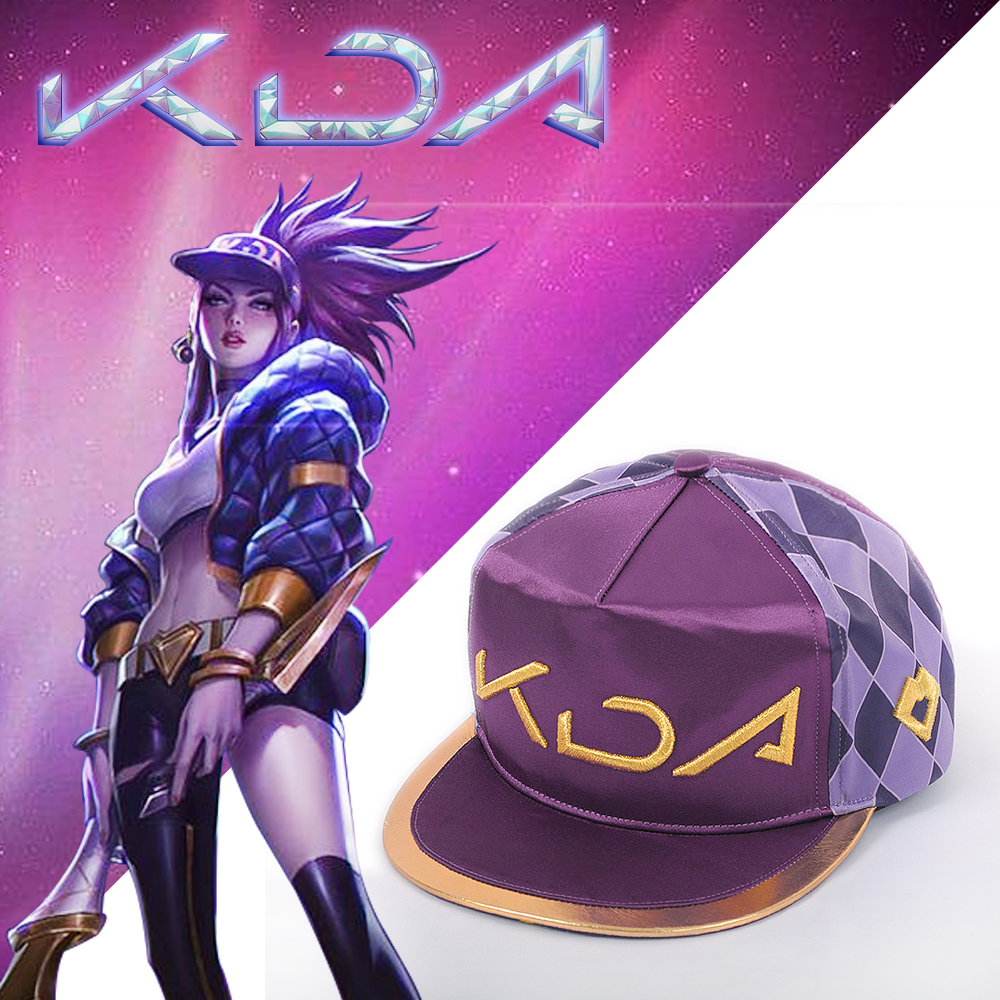 NEW STYLE LOL KDA Hat Cap Cosplay Akali Girl Boy K/DA Group Cosplay Accessories Accessory Christmas Fashion COS For Costume