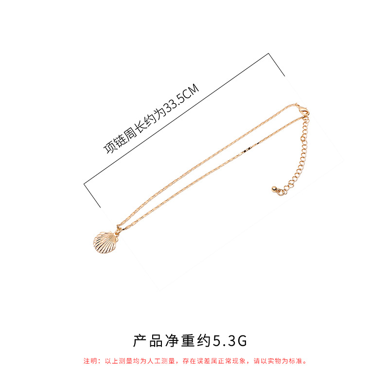 New Bohemia Fashion Charm Necklace 2019 Simple Silver Shell Necklace Pendants Accessories Clavicle Necklace Wholesale in Chain Necklaces from Jewelry Accessories