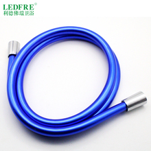 LF12003 G1/2*G1/2 Flexible Shower Hose/High Quality PVC lIGHT BlUE SHOWER HOSE