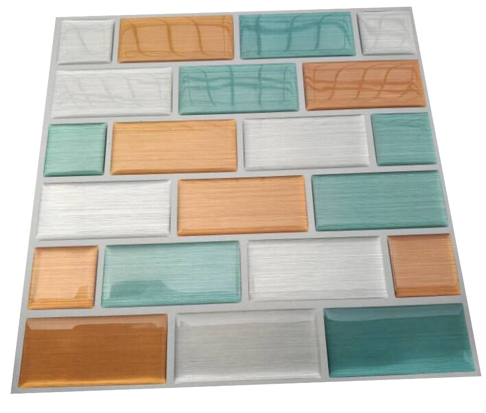 3d Wall Tiles For Kitchen: Self Adhesive Vinyl Wall Tiles Sticker PVC Kitchen Mosaic