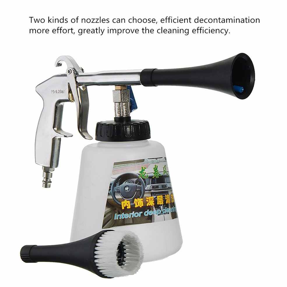 High Pressure Air Pulse Car Cleaning Gun with Brush Multifunctional Surface Interior Exterior Cleaning Kit