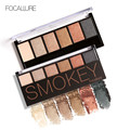 FOCALLURE 6 Colors Eye Shadow Makeup Shimmer Matte Eyeshadow Earth Color Eyeshadow Palette Cosmetic Makeup Set Nude Eye Shadow