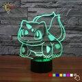 3D Illusion Pokemon Lamp USB LED Color Change Night Light  Kids Bedroom Lighting Pokemon Go Bulbasaur Toys Best Xmas Gift