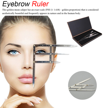 Stainless Steel 1pcs Permanent Makeup Eyebrow Ruler Golden Ratio Divider Caliper Stencil Shaping Tool Tattoo Accessories