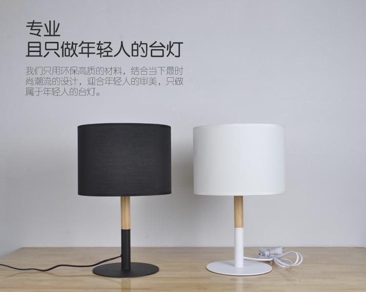 Novel houten tafellamp mm moderne industriële lamp hout