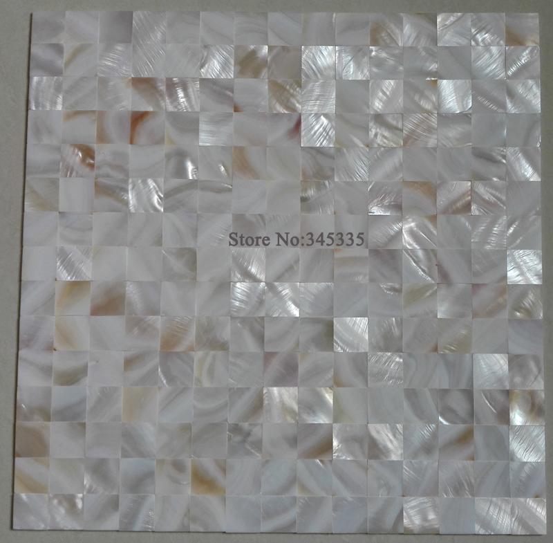11 quadratmeter weies quadrat schale mosaik fliesen groutless perlmutt kche backsplash dusche glanz bad wand - Mosaikfliesen Wei