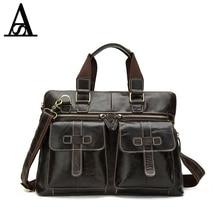 AITESEN Genuine Leather Briefcase Men Bag Business Laptop Bag Men's Shoulder Crossbody Bags Totes Men Messenger Bags Handbags