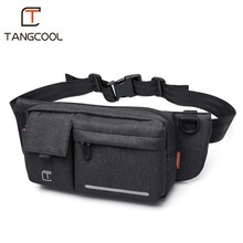 Tangcool  Men Black Waterproof Waist Bags for Men Fashion Cigarette Phone Case Money Belt for Travel Security Outdoor Waist Pack(China)