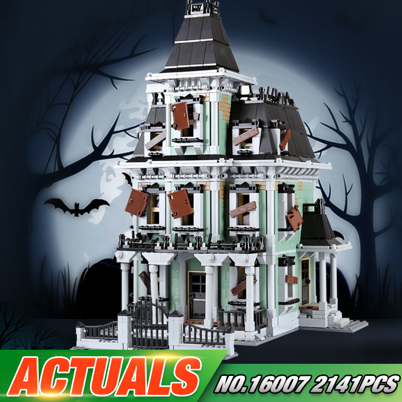 DHL LEPIN 16007 2141 stücke Die 10228 Haunted House Set Bausteine Ziegel Montage Kinder Spielzeug Neue Halloween Weihnachten Geschenke
