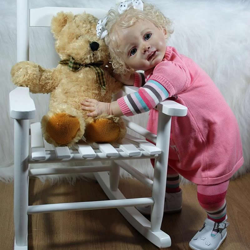 все цены на Super High Quality Silicone Vinyl DIY Reborn Baby Doll Kits Head And 3/4 Lambs Accessories for 24 Inches Baby Dolls онлайн