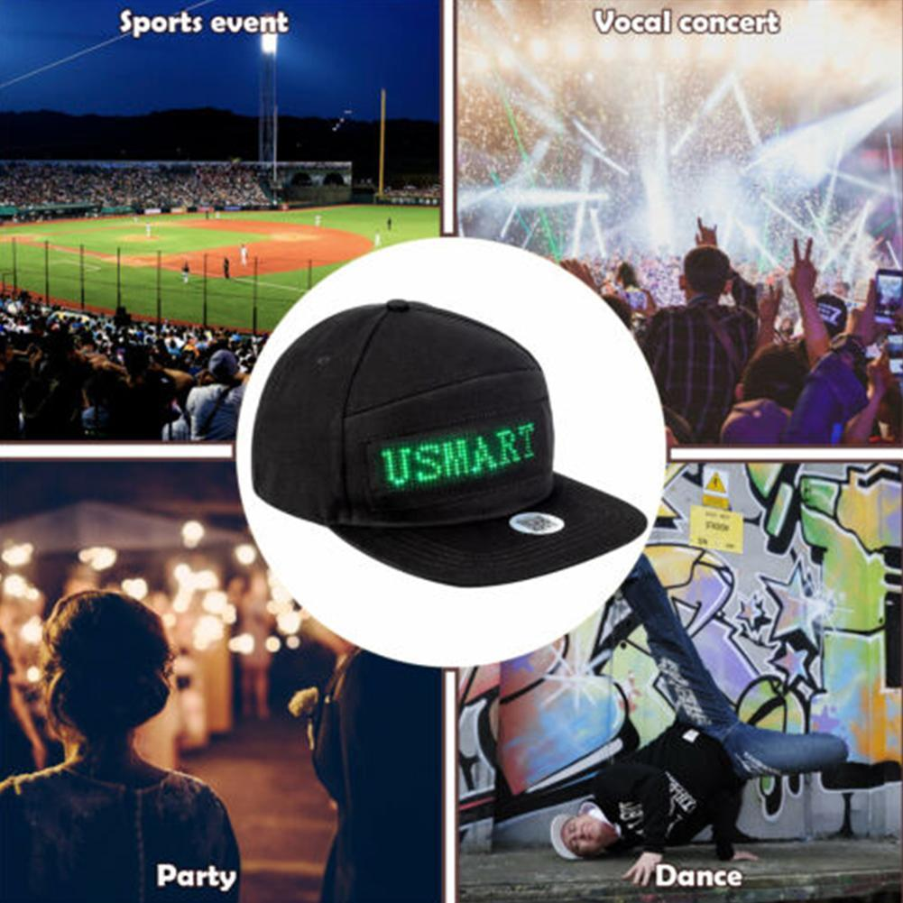 LED Message Hat with Scrolling Message and Bluetooth Used for Sports Dance and Party 5