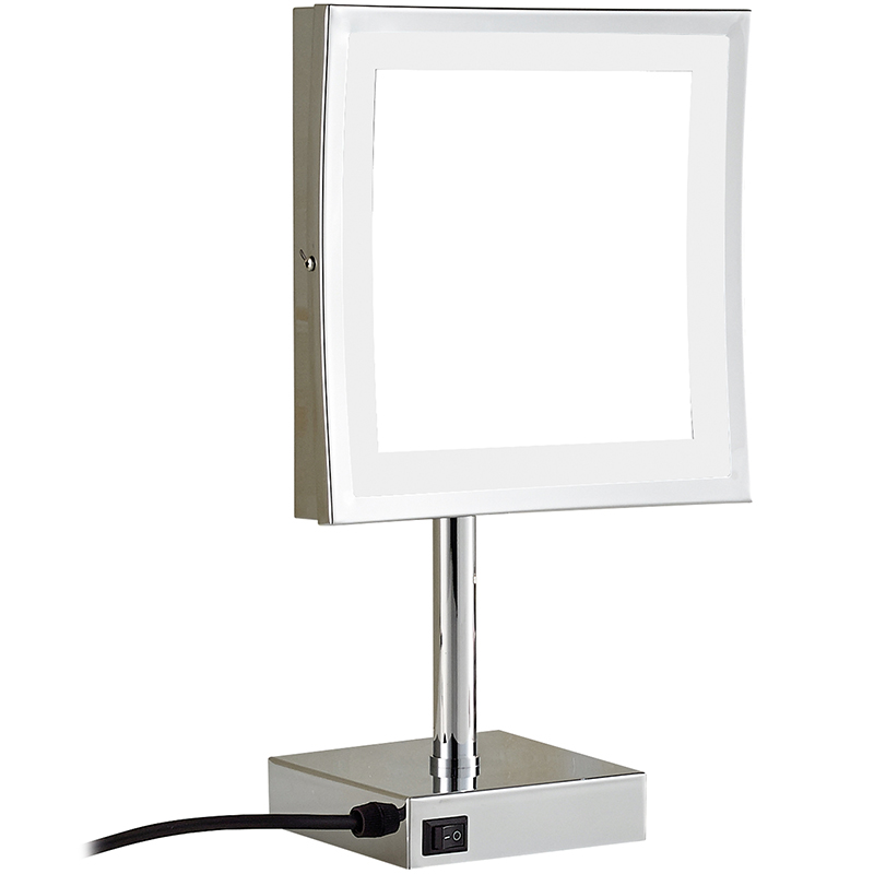 все цены на Gurun LED Make up Mirror- Square cosmetic mirror With LED Adjustable Countertop 3X Magnifier Professional Vanity Mirror 2205D онлайн
