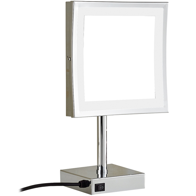 Gurun Led Make Up Mirror Square Cosmetic Mirror With Led