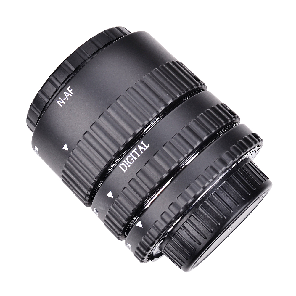 Meike Auto Focus métal AF Macro Extension Tube ensemble pour Nikon D7100 D7000 D5100 D5300 D3100 D800 D750 D600 D90 D80 DSLR appareil photo - 2
