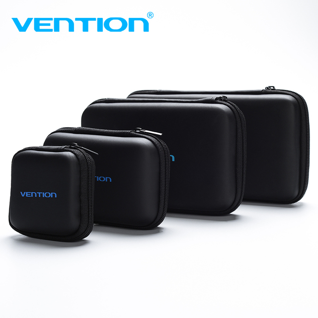 US $4 43  Vention Storage Case for Samsung Seagate 2 5 Hard Drive USB Cable  Headphone Case External Storage Carrying SSD HDD Case -in Bags from
