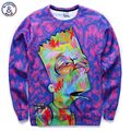 Mr.1991INC New arrivals men/boy cartoon 3d sweatshirts funny print animation character casual hoodies autumn tops