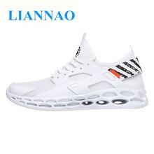 ae50314a7 Nuevo aire HUARACHing de moda zapatos casuales zapatos de los hombres de  blanco negro zapatillas hombres