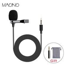 MAONO петличный микрофон Универсальный держатель для сотового телефона-на всенаправленный конденсаторный нагрудный микрофон Громкая связь интервью вокальный видео микрофон для DSLR камеры