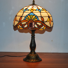 12 » VSROLLING спальня украшения романтический стиль барокко ручной работы разноцветные тиффани стол настольные лампы