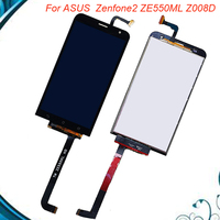 100% Working Well 5.5For ASUS ZenFone 2 Laser ZE550KL Z00LD LCD Display Panel Touch Screen Digitizer Glass Sensor Assembly