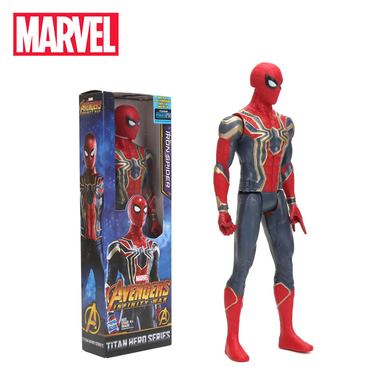 30cm Iron Spider PVC Action Figure Titan Hero Series Marvel Toys The Avengers Figures Ironman Super Hero Collection Model Dolls(China)