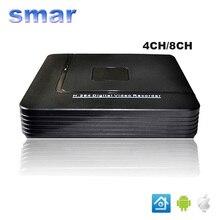 CCTV Mini DVR de 4 Canales 960 H Sistema Híbrido 8CH DVR H264 P2P Nube Grabador de Vídeo Digital de Vigilancia de Seguridad de LA UE poder