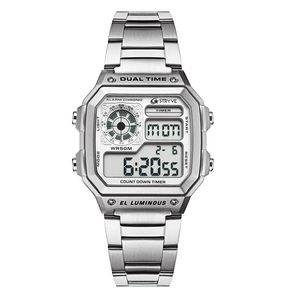 Herrenuhren Uhren 2019 Neue G Uhren Wasserdichte Sport Militär Uhren Uhren Hombre Marke Sanda Mode Uhren Männer Led Digital Uhren ZuverläSsige Leistung