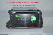 "7 ""Android 6.0 2din coche dvd gps para ssangyong Kyron Actyon 4G LTE, Wifi, BT, radio, rds, 2 GB RAM, 16 GB ROM, soporte dvr, ruso, inglés"
