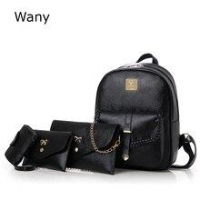 Новые женские рюкзаки мода кожаный рюкзак поток 4 шт./компл. мать мешок Универсальные женские Tessel сумки