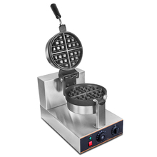 Waffle machine commercial rotary muffin machine coffee shop baked cake milk tea tartan electric heat over the waffle furnace