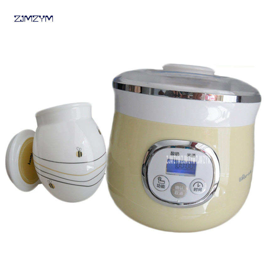 SNJ-530 Electric Automatic Yogurt Maker with Healthy Porcelain Liner High Quanlity Yogurt Machine Acidophilus Rice Wine Natto purple yogurt makers rice wine natto machine household fully automatic yogurt glass sub cup liner multifunctional kitchen helper