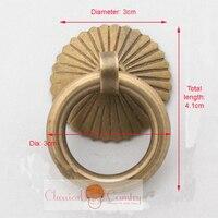 4sets Of Drawer Handles Pull Door Knocker Ring Brass Hardware Knob Handles Chinese Furniture Hardware