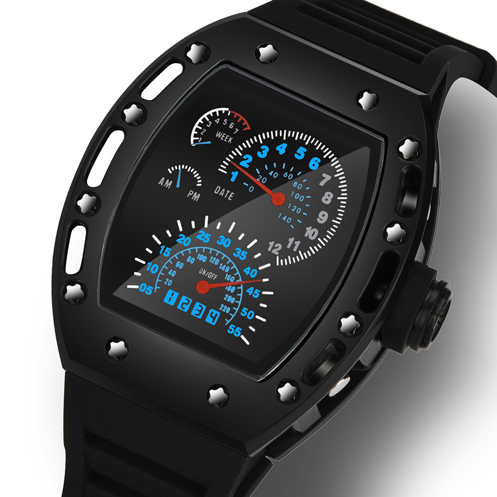 Fashion Luxur LED Date Watch Sport Quartz Wrist Men Analog Digital Army Military the venom of luxur