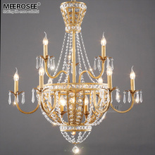 цена Good Quality crystal chandelier light fixture lustre de cristal lamparas for hotel restaurant living room hanging drop lighting онлайн в 2017 году