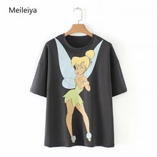 2019 Summer Womens Wear New Elf Printed Short Sleeved T-shirt Female O-Neck Tops Graphic Tees Woman