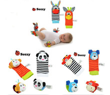 SOZZY Baby Toy Baby Rattles Toys Animal Socks Wrist Strap With Rattle Baby Foot Socks Bug Wrist Strap baby socks